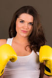 Beautiful female boxer Stock Image