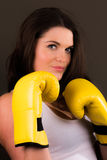 Beautiful female boxer Royalty Free Stock Images