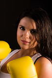 Beautiful female boxer Royalty Free Stock Photos