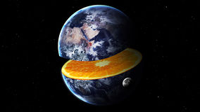 High resolution image of Earth as orange in space Royalty Free Stock Photo