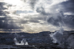 Geothermal volcanic activity in Iceland Royalty Free Stock Photos