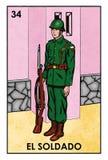 Lotería Mexicana - El Soldado - High resolution image Royalty Free Stock Photo