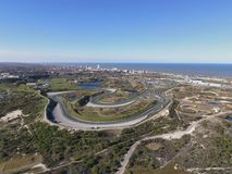 High resolution image race track circuit of Zandvoort stock image