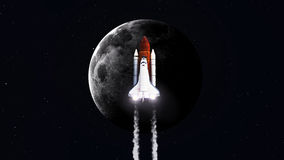 High resolution image of Space shuttle taking off Stock Photo
