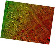 High Resolution Orthorectified, Orthorectification Aerial Map Used For Photogrammetry royalty free stock photo