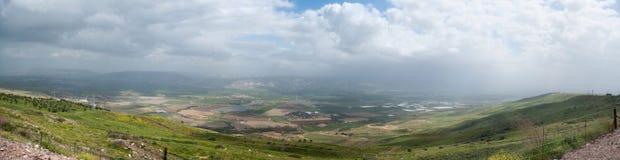 High resolution panorama of Galilee stock photo