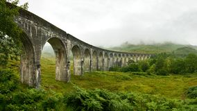 High resolution panorama of Glenfinnan railway viaduct royalty free stock photography