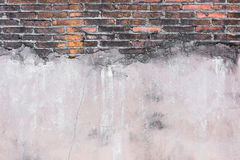 High resolution pictures vintage orange pattern of brick wall Royalty Free Stock Image