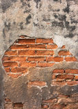High resolution pictures vintage orange pattern of old brick wall Royalty Free Stock Images