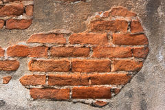 High resolution pictures vintage orange pattern of old brick wall Stock Photo