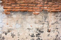 High resolution pictures vintage orange pattern of old brick wall Royalty Free Stock Photos