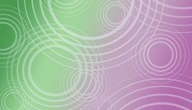 High resolution green purple white geometric circles abstract background. High resolution random geometric pattern of radiating white circles on a gradient Stock Photo