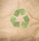 High resolution recycled brown cardstock with halftone Royalty Free Stock Images