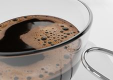 Detail of a cup of coffee stock image