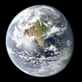 High resolution rendering of planet Earth Stock Photo
