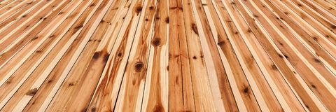 High Resolution Rustic Knotted Pinewood Floorboards Background.  Royalty Free Stock Images