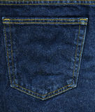 Denim Fabric Texture - Blue Pocket. High resolution scan of blue denim fabric. The back pocket of a pair of jeans Stock Images
