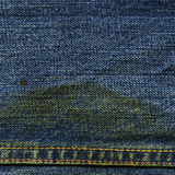 Denim Fabric Texture - with Seam & Stain Stock Photography