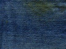 Denim Fabric Texture - Stained Stock Image