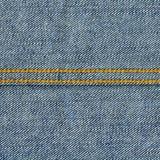 Denim Fabric Texture - Light Blue With Seams Stock Image
