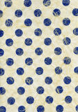 Rice Paper Texture - Blue Polka Dots XXXXL. High resolution scan of blue polka dots embedded in yellowish-white rice paper Royalty Free Stock Photography