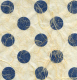 Rice Paper Texture - Blue Polka Dots Stock Photos