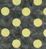 Rice Paper Texture - Green Polka Dots XXXXL. High resolution scan of green polka dots on dark gray rice paper Stock Photography