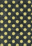 Rice Paper Texture - Green Polka Dots. High resolution scan of green polka dots on dark gray rice paper Stock Photos