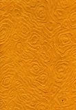 Rice Paper Texture - Mandalas Orange XXXXL. High resolution scan of orange rice paper with a decorative pattern made of amorphic mandalas Royalty Free Stock Photography