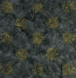 Rice Paper Texture - Yellow Polka Dots Stock Image