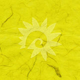 Rice Paper Texture - Decorated Yellow XXXXL Stock Photography