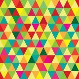 High-resolution seamless pattern with abstract geometric colorful triangles. Seamless pattern with abstract geometric colorful triangles stock illustration