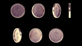 High resolution shiny antique metal coins set Stock Image