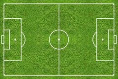 High resolution soccer grass field Stock Image