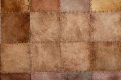 High resolution stiched natural suede leather. Texture Royalty Free Stock Photography