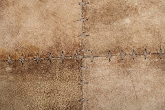 High resolution stiched suede leather texture Stock Photos