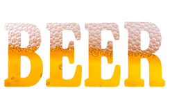 High resolution text with word beer Royalty Free Stock Photography