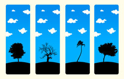 High Resolution Trees Bookmark set Royalty Free Stock Photography