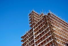 High-rise. Construction of a new high-rise building stock image