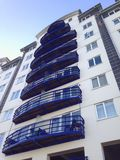 High Rise Apaprtments. High rise apartments at Napoleons Landing in Sandown on the Isle of Wight, overlooking Sandown Bay Stock Photos