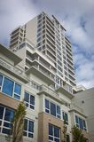 High rise apartement building. In a downtown area Royalty Free Stock Photography