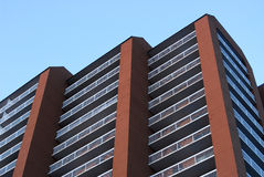 High rise apartment building. A neat high rise apartment building in downtown edmonton, alberta, canada royalty free stock images