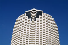High-rise apartment building. High-rise, circular apartment building Royalty Free Stock Image