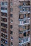 High-rise apartment building. The facade of high-rise residential building in sleeping quarters Stock Photos