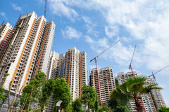 High-rise apartment building. Under construction royalty free stock photos