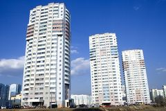 High-rise apartment buildings Royalty Free Stock Photos