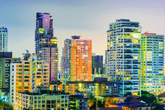 High rise apartment buildings and skyscrapers Royalty Free Stock Images