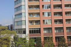 The High Rise Apartment in Minato Stock Photos