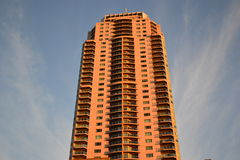 High Rise Apartment Reflecting Sun-light Royalty Free Stock Images