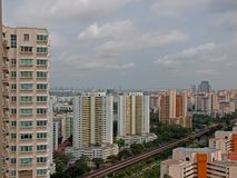High Rise Apartments. Blocks of high rise apartments in Singapore Stock Image